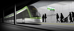 Rendering of Eglinton Crosstown Light Rail Transit Project