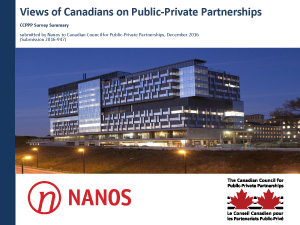 Views of Canadians on Public-Private Partnerships Cover