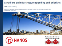 Canadians on infrastructure spending and priorities