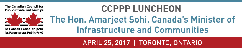 A CCPPP Luncheon Event Featuring The Hon. Amarjeet Sohi
